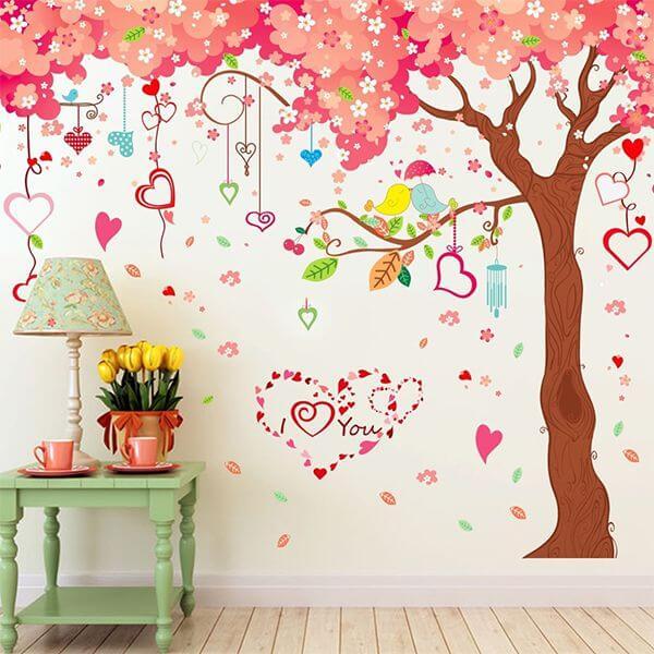 Sử dụng Decal dán tường - Trang trí phòng cưới