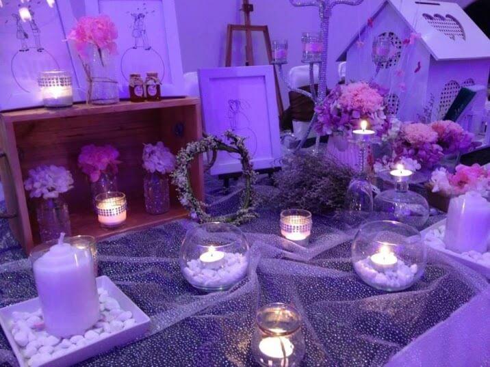 Nến thơm - Trang trí phòng cưới