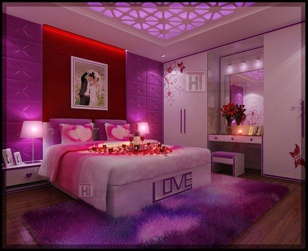 Đèn ngủ ấm áp - Trang trí phòng cưới