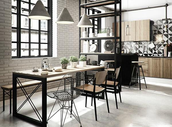 Bộ bàn ăn đẹp mang phong cách quán Cafe