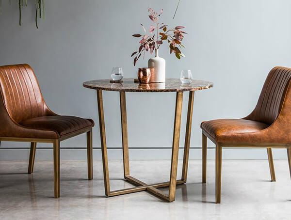 Bộ bàn ăn đẹp bằng mặt đá