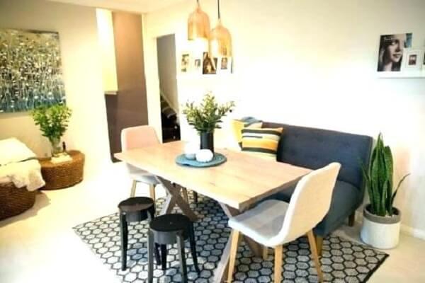 Bộ bàn ăn đẹp kết hợp Sofa