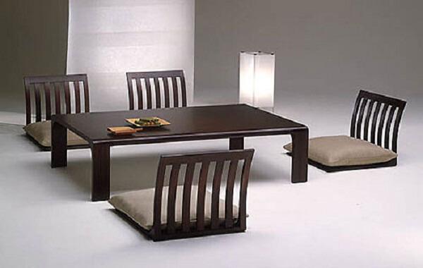 Bộ bàn ăn đẹp mang phong cách Nhật Bản