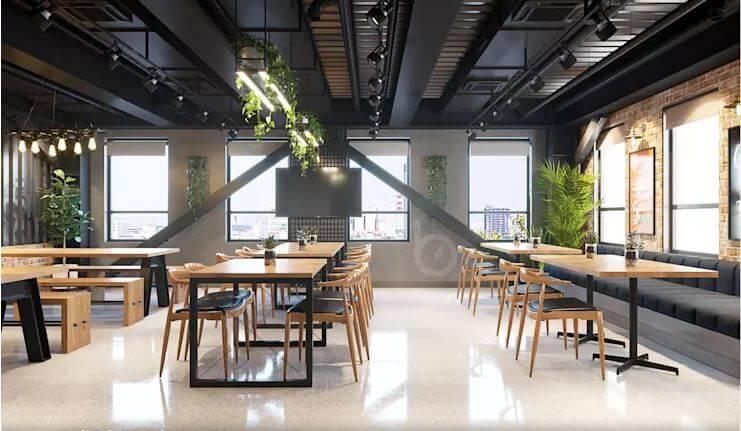 Khu Coffee năng động mang tính kết nối cao - Nội thất văn phòng - 3