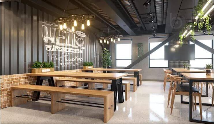 Khu Coffee năng động mang tính kết nối cao - Nội thất văn phòng