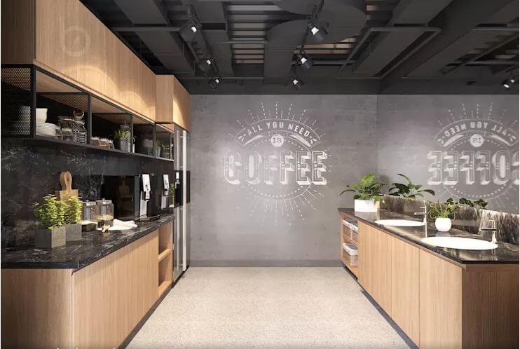 Khu Coffee năng động mang tính kết nối cao - Nội thất văn phòng - 1