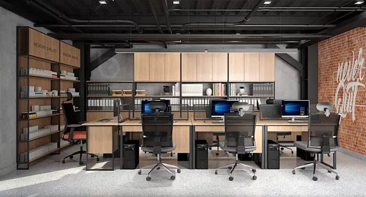 Phong cách công nghiệp đầy cảm hứng - Nội thất văn phòng