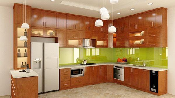 Mẫu tủ bếp đẹp dạng chữ L