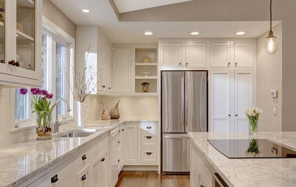 Mẫu tủ bếp đẹp thiết kế kịch trần