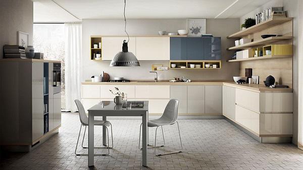 Mẫu tủ bếp đẹp được thiết kế mở độc đáo