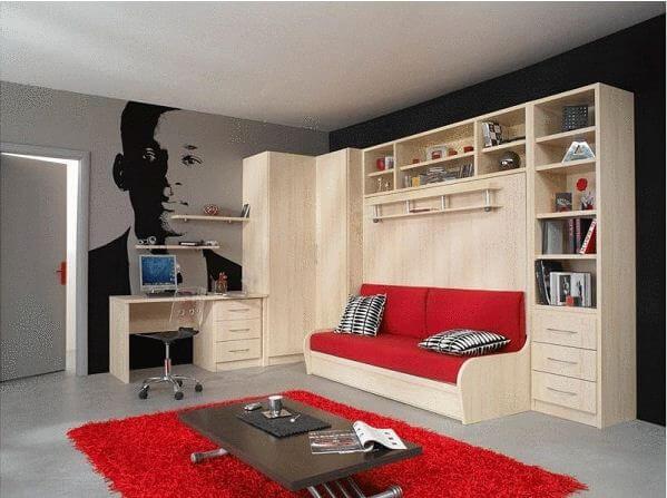 Giường ngủ thông minh kiêm ghế Sofa và tủ đồ - Nội thất thông minh - 1