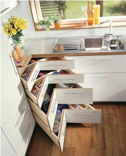 Tủ bếp tiện ích cho bếp nhỏ - Nội thất thông minh