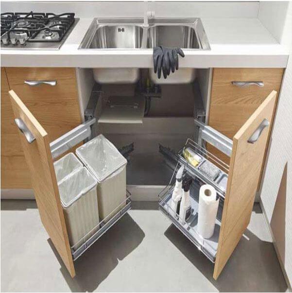Tủ bếp tiện ích cho bếp nhỏ - Nội thất thông minh - 1