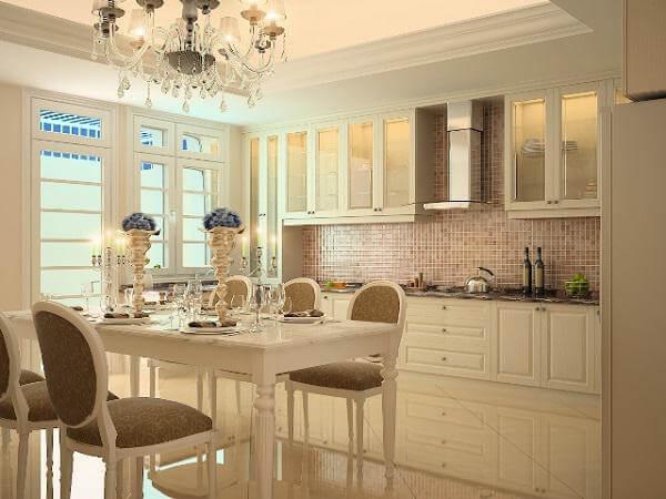 Thiết kế nội thất chung cư theo phong cách kiến trúc tân cổ điển