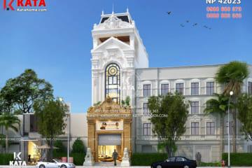 Mẫu thiết kế nhà phố đẹp được các kiến trúc sư Kata thể hiện trọn vẹn vẻ đẹp của lối kiến trúc tân cổ điển