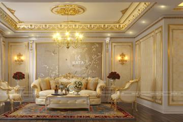 Không gian nội thất tân cổ điển của hệ thống phòng khách