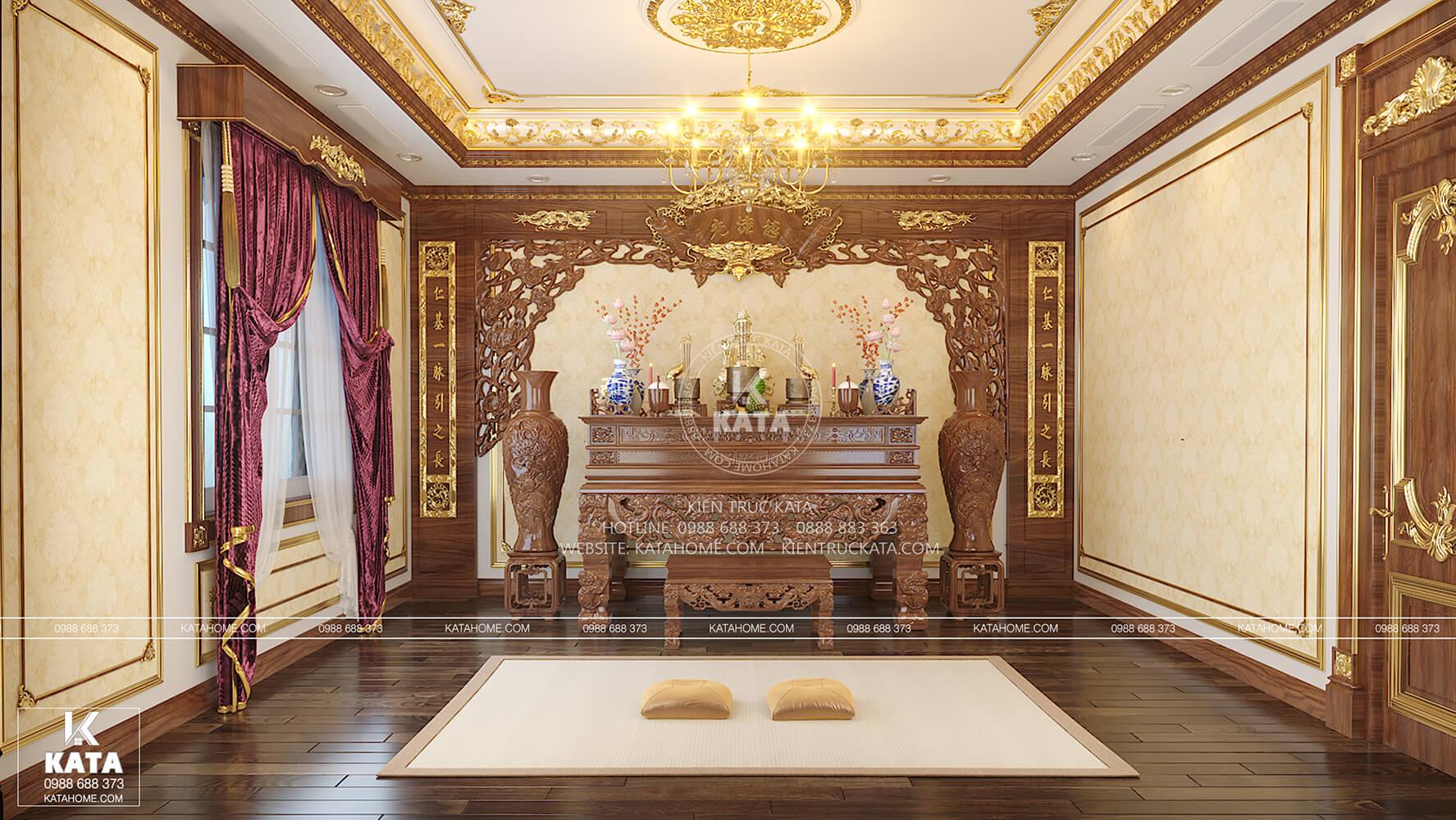 Thiết kế nội thất tân cổ điển cho không gian phòng thờ