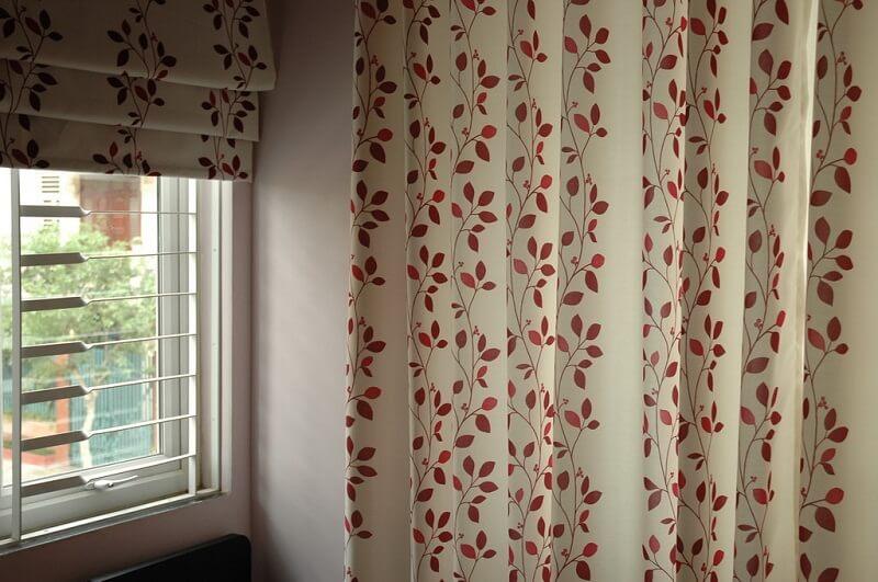 Rèm vải hoa văn màu vui vẻ và tươi mới - Rèm cửa đẹp