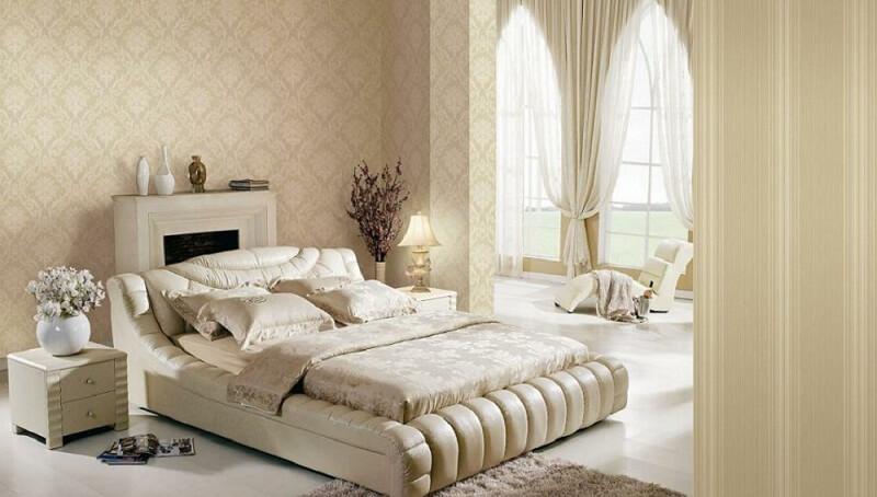 Sử dụng giấy dán tường - Nội thất phòng ngủ