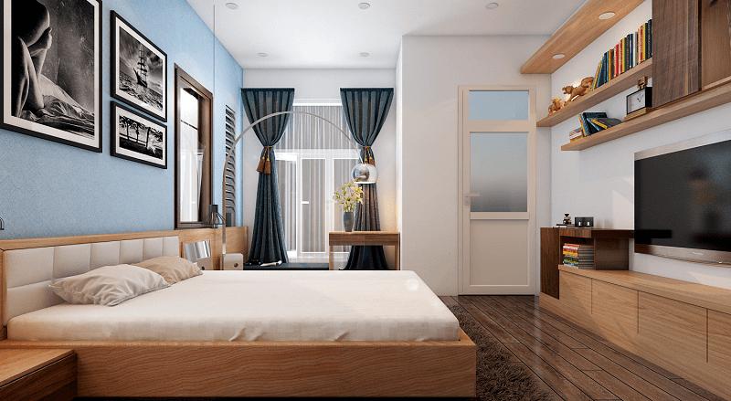 Phòng ngủ kết hợp với khu vực sinh hoạt - Nội thất phòng ngủ