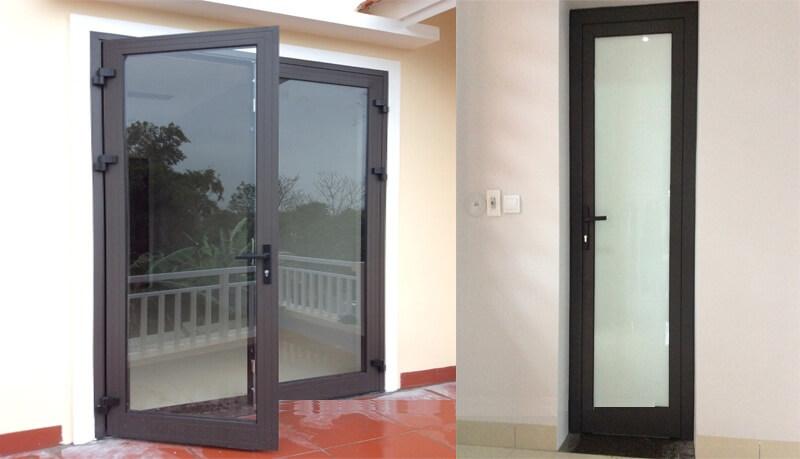 Một số mẫu nhà đẹp lắp đặt hệ cửa nhôm kính