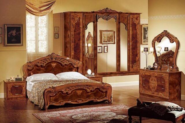 Mẫu giường gỗ sang trọng