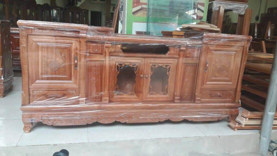 Tổng hợp những mẫu kệ tivi gỗ đẹp tại xưởng sản xuất đồ gỗ nội thất Kata - 11