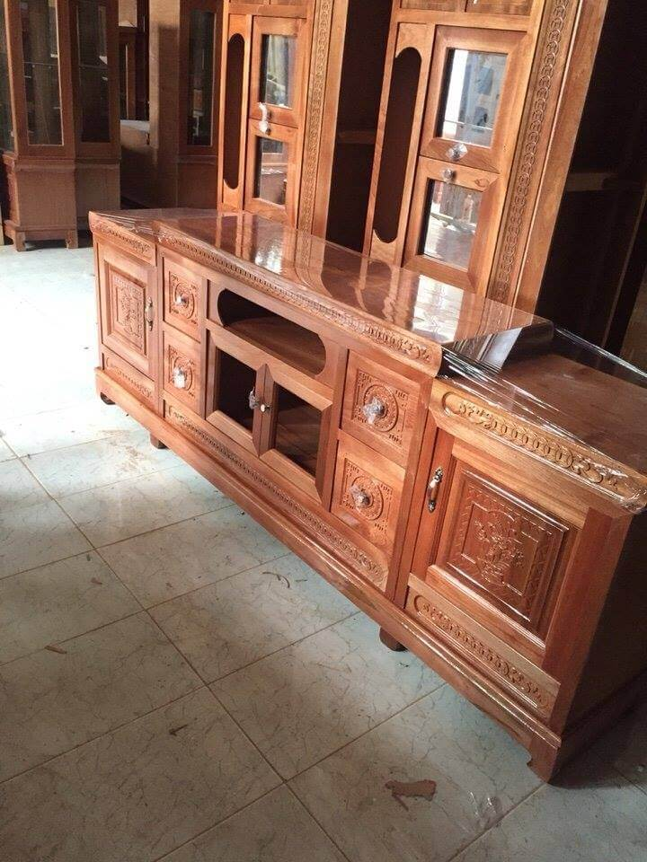 Tổng hợp những mẫu kệ tivi gỗ đẹp tại xưởng sản xuất đồ gỗ nội thất Kata - 12