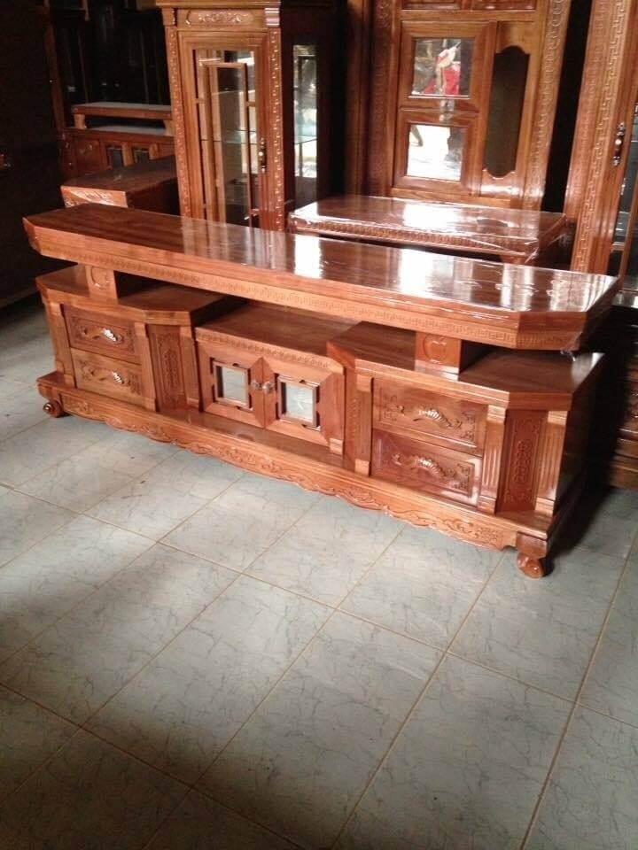 Tổng hợp những mẫu kệ tivi gỗ đẹp tại xưởng sản xuất đồ gỗ nội thất Kata - 3