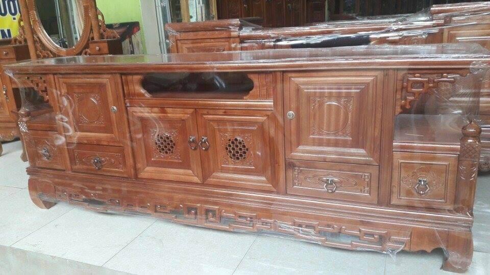 Tổng hợp những mẫu kệ tivi gỗ đẹp tại xưởng sản xuất đồ gỗ nội thất Kata - 4