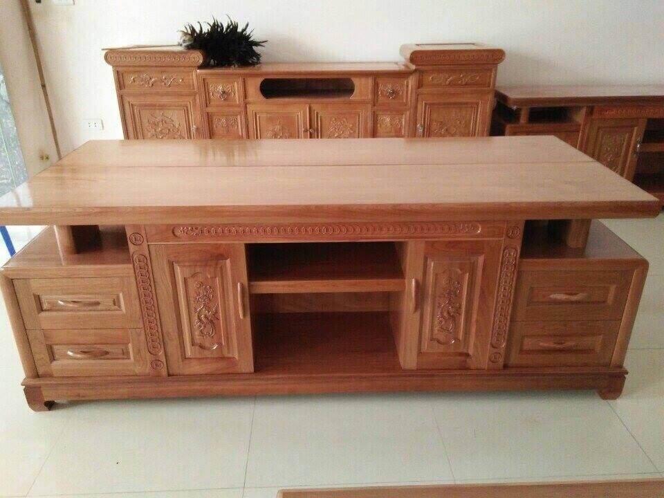 Tổng hợp những mẫu kệ tivi gỗ đẹp tại xưởng sản xuất đồ gỗ nội thất Kata - 7