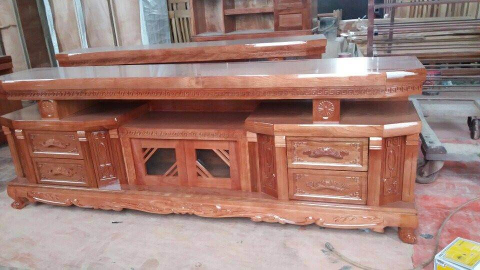 Tổng hợp những mẫu kệ tivi gỗ đẹp tại xưởng sản xuất đồ gỗ nội thất Kata