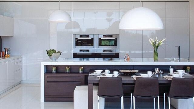 Những ý tưởng thiết kế tủ bếp đẹp cho không gian phòng bếp
