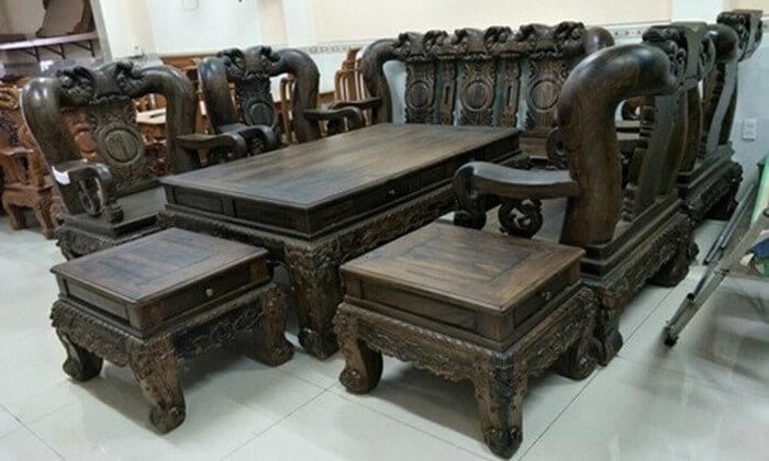 Tổng hợp các mẫu bàn ghế gỗ phòng khách sang trọng - 1