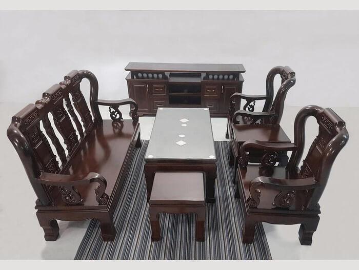 Tổng hợp các mẫu bàn ghế gỗ phòng khách sang trọng - 2