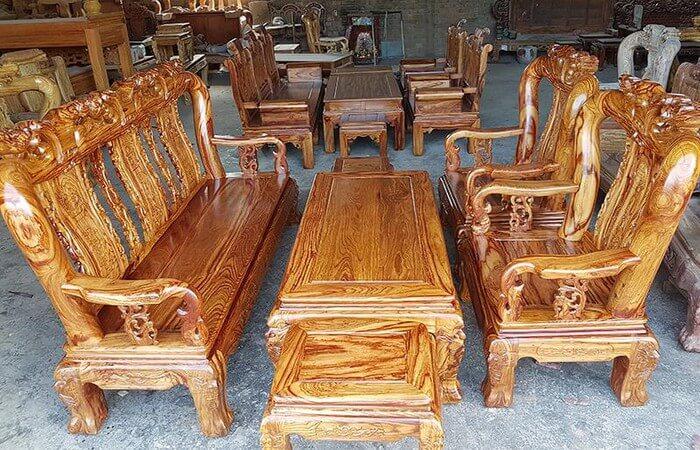Tổng hợp các mẫu bàn ghế gỗ phòng khách sang trọng - 3