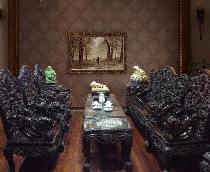 Tổng hợp các mẫu bàn ghế gỗ phòng khách sang trọng - 4
