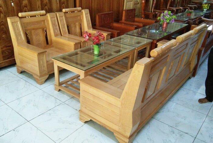 Tổng hợp các mẫu bàn ghế gỗ phòng khách sang trọng - 5