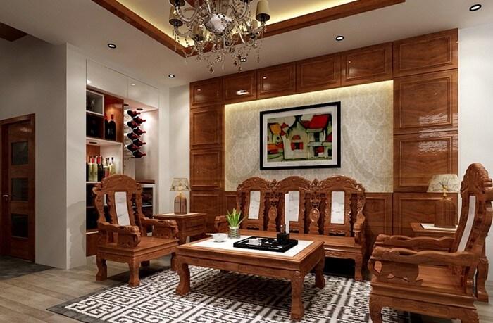 Tổng hợp các mẫu bàn ghế gỗ phòng khách sang trọng - 6