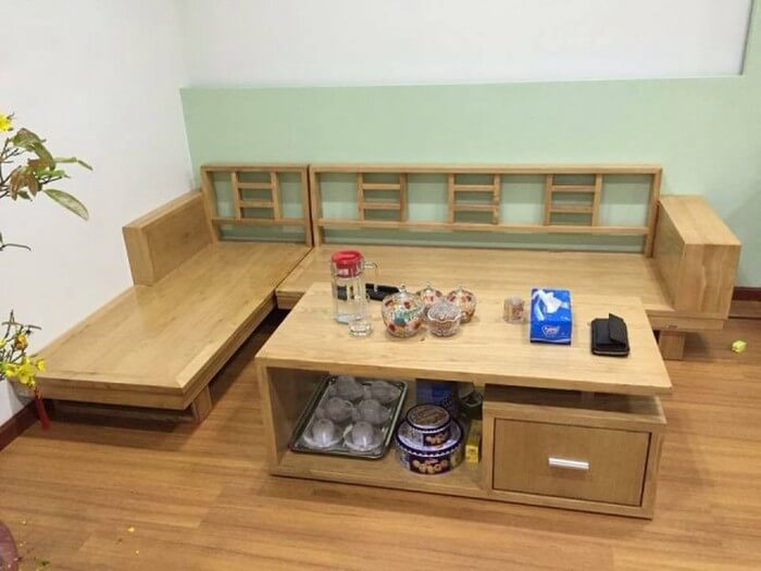 Tổng hợp các mẫu bàn ghế gỗ phòng khách sang trọng - 7