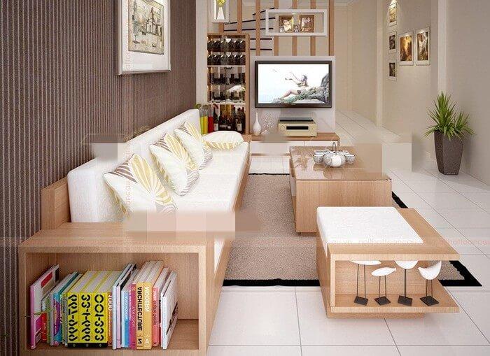 Tổng hợp các mẫu bàn ghế gỗ phòng khách sang trọng - 8