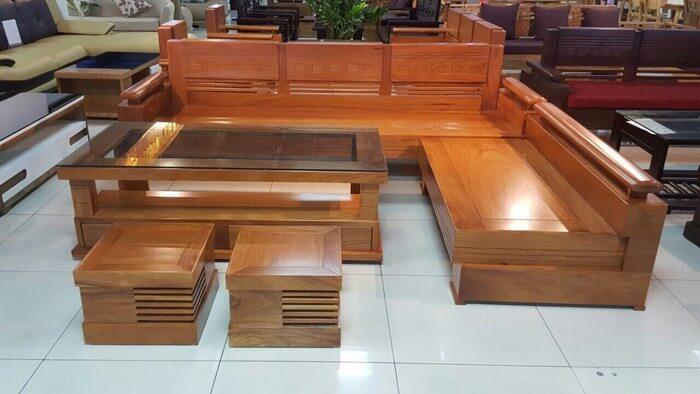 Tổng hợp các mẫu bàn ghế gỗ phòng khách sang trọng