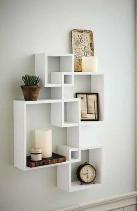 Kệ sách treo tường hình vuông - 1