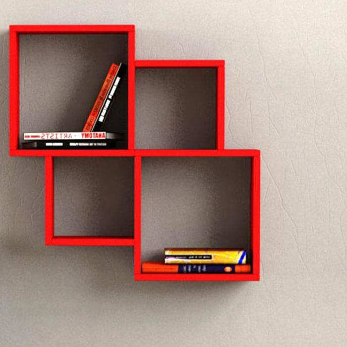 Kệ sách treo tường hình vuông - 2