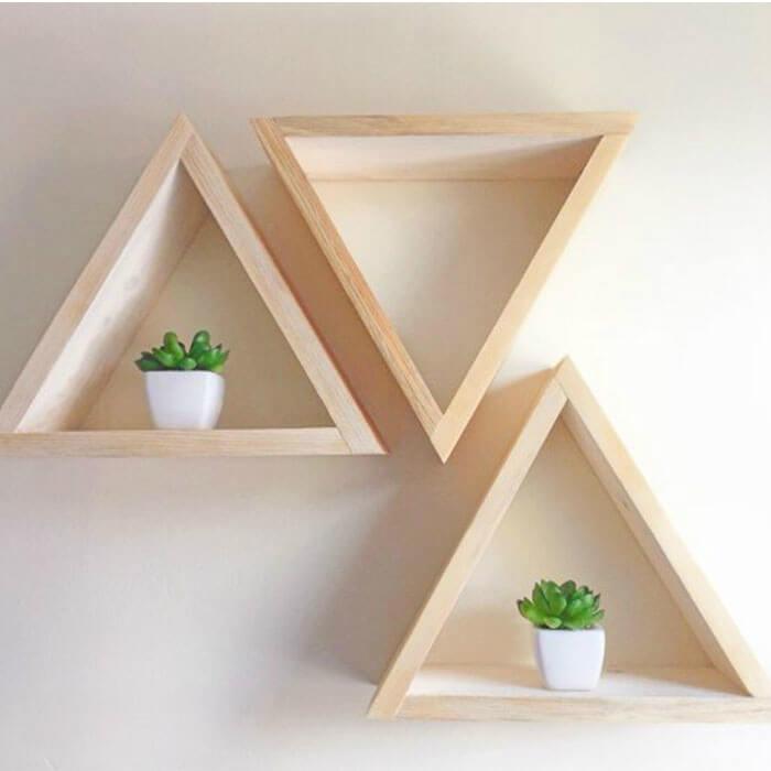 Kệ sách treo tường tam giác - 1
