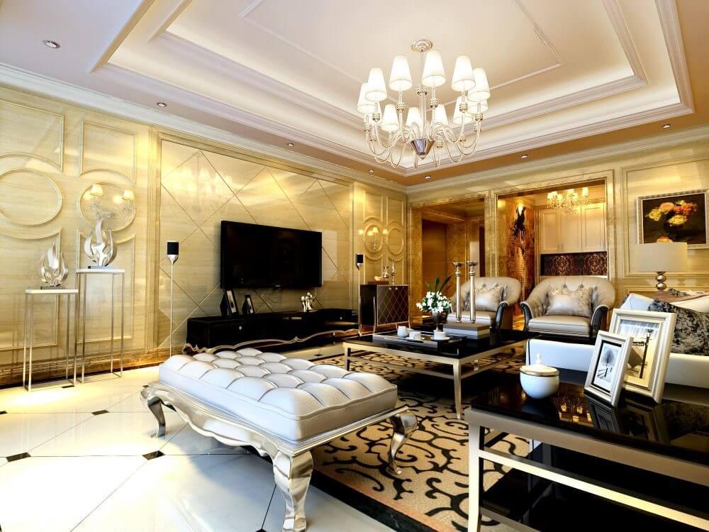 Ưu điểm của trần thạch cao - Trần thạch cao phòng khách