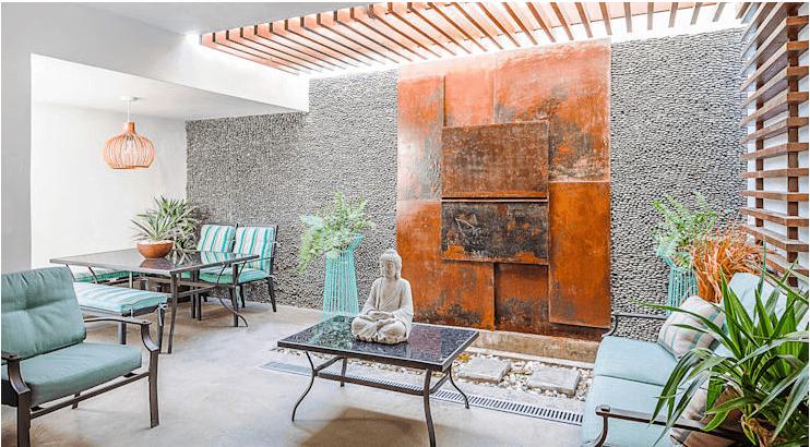 Kết cấu bề mặt thoáng khí - Phòng khách đẹp