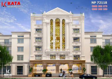 Không gian ngoại thất của mẫu thiết kế mặt tiền nhà hàng tại Hà Nội