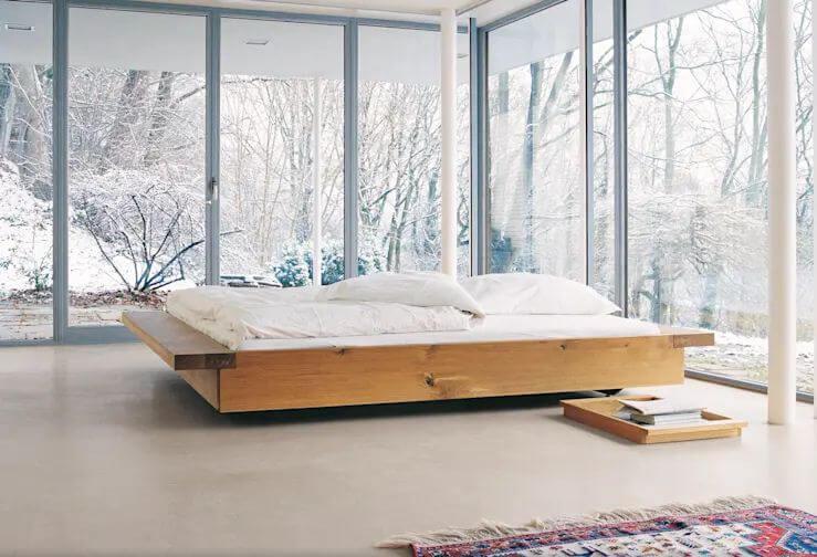 10 mẫu giường gỗ đơn giản cho phòng ngủ đẹp mê mẩn đơn giản