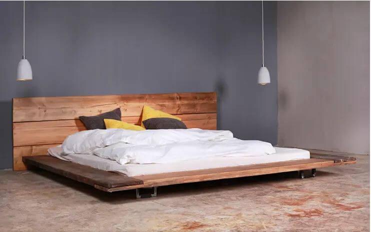 10 mẫu giường gỗ đơn giản cho phòng ngủ đẹp mê mẩn rộng